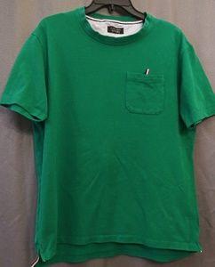 Zara Man Large, Pocket Green T-Shirt